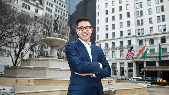 Christopher Rim outside the Plaza Hotel, across the street from his Fifth Avenue office.