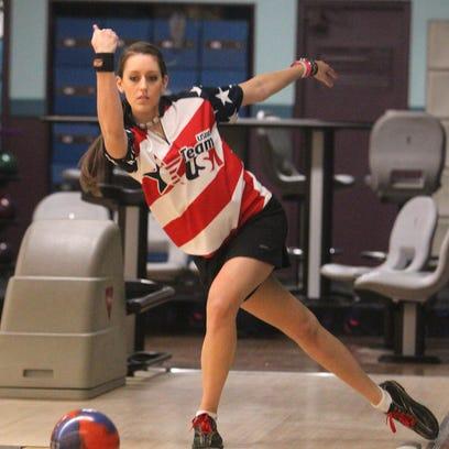Former North Rockland High School bowler Danielle McEwan