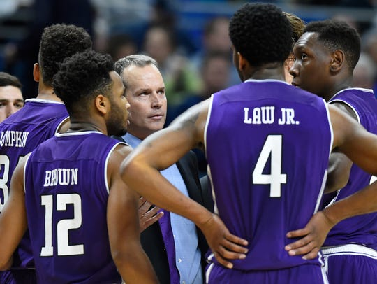 Northwestern coach Chris Collins and the Wildcats look