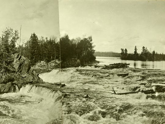 Namakan River in Ontario. 1911.