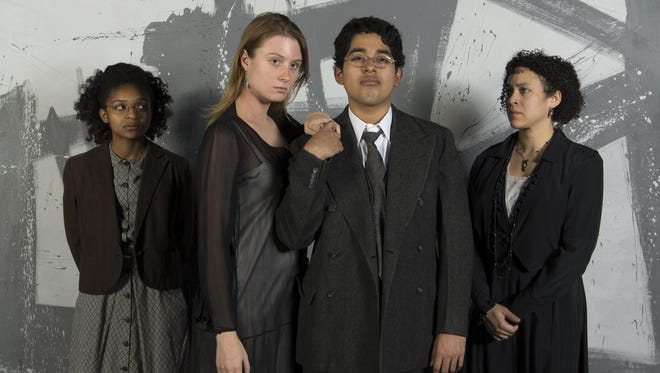 "Starring in ""All God's Chillun Got Wings,"" from left, are Dominique Thorne, Molly Karr, Irving Torres and Sylvie Yntema."