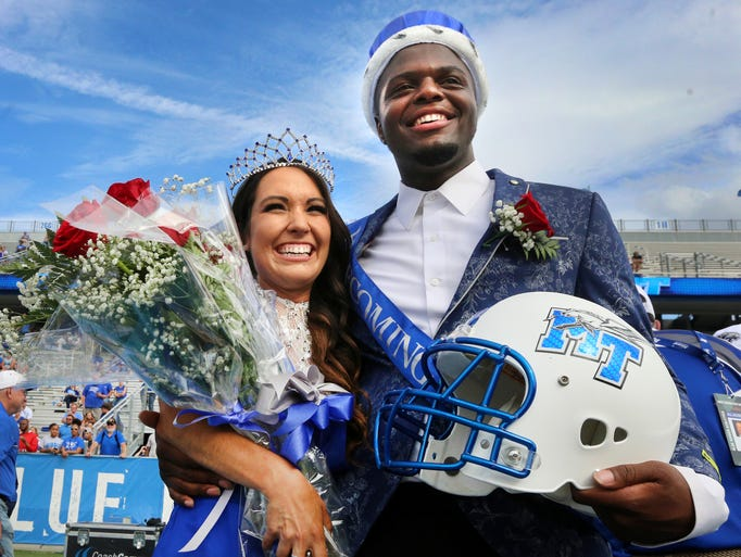 Paige Phillips and Montavius Euwing were crowned this