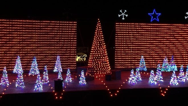 A new light show is part of this year's Winterfest at Tioga Downs Casino.