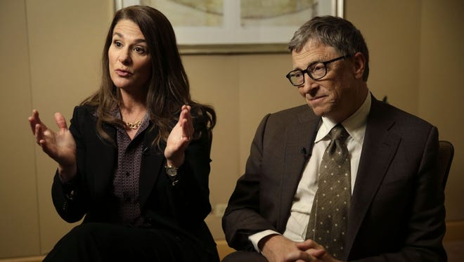 Melinda and Bill Gates.