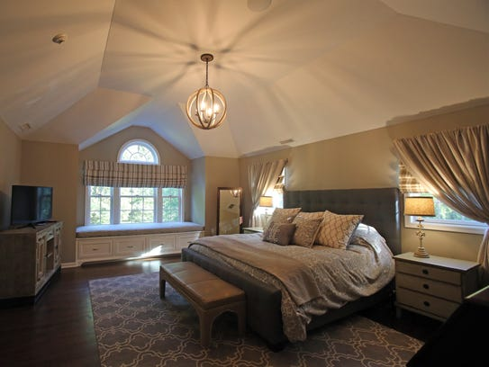 This is a view of a custom designed master bedroom