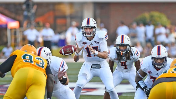 Northwestern State quarterback Stephen Rivers comes to Starkville for the fourth time with the third different team.