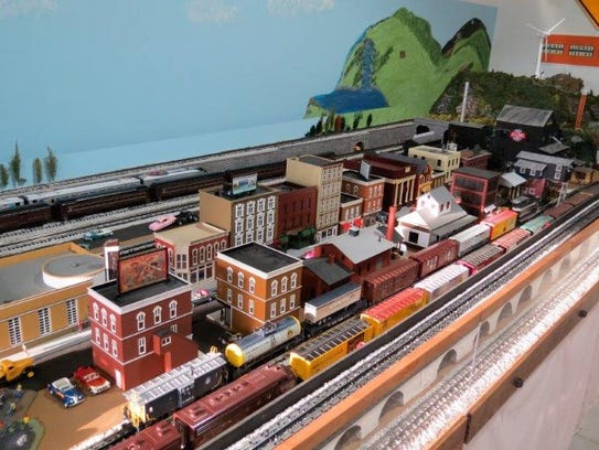 A model train display at the Delaware SeaSide Railroad