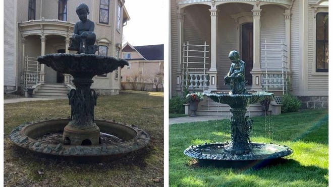 The reinstallation of the famous Cappon House fountain was announced by Holland Museum Friday, Aug. 14.