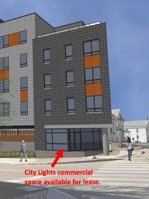 Artist's rendering of City Lights building in Winooski, scheduled for completion in summer 2017. The building is under construction at East Allen Street and Abnaki Way.