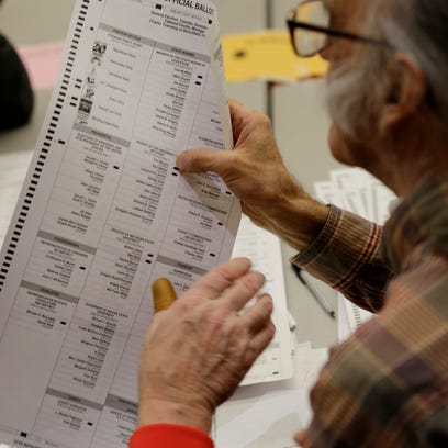 Votes are recounted at the Oakland County Intermediate