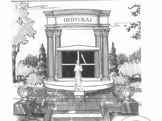 The initial design called for an $858,000 mausoleum