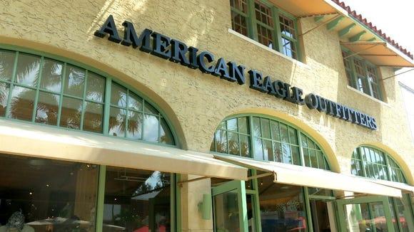 Bagian luar toko American Eagle