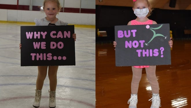 Chloe Gamache starred in a staged protest picture by Forrest's Family Fun Center Owner Forrest Welling.