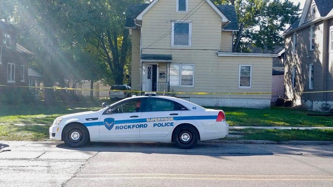 Police investigate a shooting on Thursday, Oct. 8, 2020, in the 1300 block of 15th Avenue in Rockford.