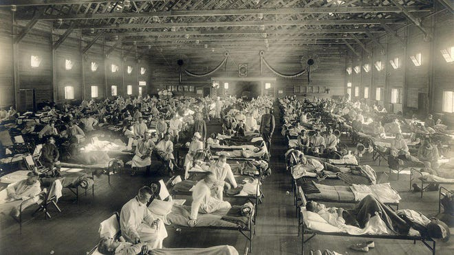 The Spanish Flu, which swept across the globe n 1918, entered Kansas and the UNited States at Fort Riley's military base. One family near Augusta was hit especially hard by the disease that officials tried to reduce spread of using many of the same tactics used this year to slow the spread of pandemic COVID-19.
