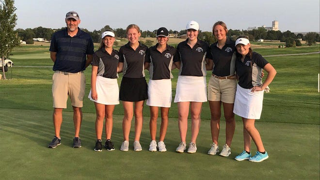 The TMP girls golf team placed third in the Cimarron Invitational.