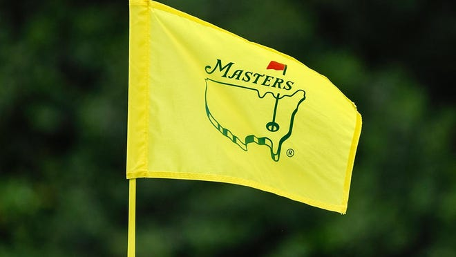 The Masters pin flag on #6 during the final round of the Masters Tournament at Augusta National Golf Club, Sunday, April 14, 2019, in Augusta, Georgia.