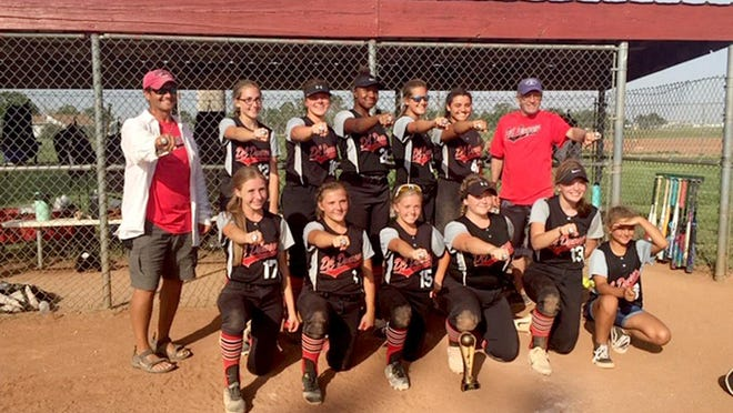 New 16U team for the 2020 USSSA Fastpitch Softball DC Damage, claimed the Runner-Up spot in the Western Kansas USSSA State Tournament in Hays recently. SUBMITTED PHOTO