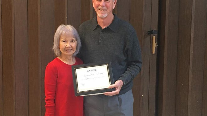 On Nov. 13, during the annual Ford County Extension Executive Board Meeting, John and Marsha Smithhisler of Dodge City were presented with the 2020 Ford County Extension Appreciation Award.