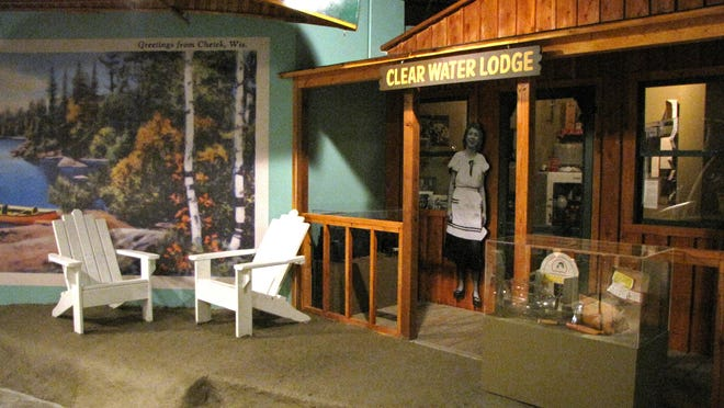"""A part of the """"Changing Currents"""" history exhibit at Chippewa Valley Museum, Eau Claire, is a 1950s style of vacation cabin."""