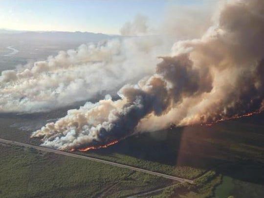 The Willow Fire in northwestern Arizona.