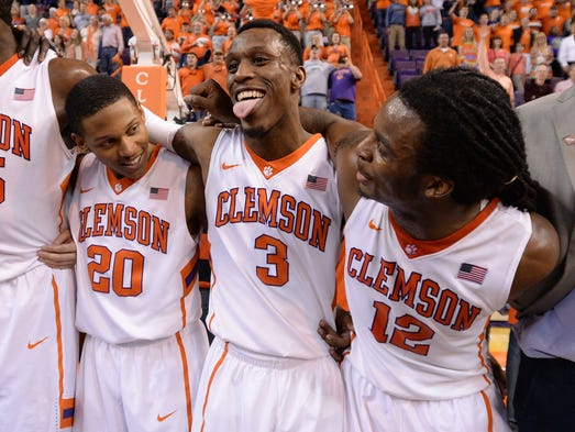Clemson hosts Belmont during the third round of the NIT Tuesday, March 25,  2014 at Clemson's Littlejohn Coliseum. BART BOATWRIGHT/Staff