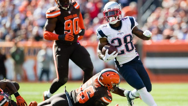 Running back James White and the New England Patriots top Tom Silverstein's Week 10 NFL power rankings.