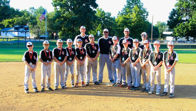 The South Augusta 10U Cal Ripken team will be playing in the Southeast Regional starting Wednesday. Team members, front row, from left, are Ashton Kessler, Tyler Wade, Henley Dunlap, Brady Majors, Levi Dunlap, Price Lunsford, Ryan Shover, Logan Austin, Holden Fitzgerald, Brody Phillips, Dalton Coffey, and Dean Fafatas. Back row, from left, are coaches Josh Dunlap, Greg Phillips, Chad Coffey, Joey Wade.