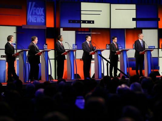 Rand Paul, Chris Christie, Ben Carson, Ted Cruz, Marco Rubio, Jeb Bush, John Kasich