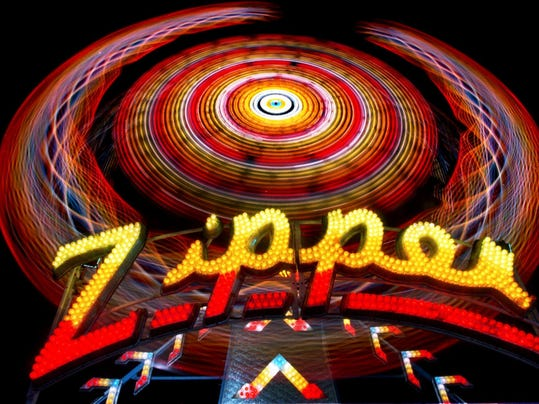 Fair ride Zipper art