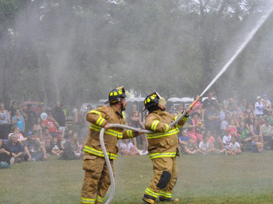 Water wars garnered a lot of popularity at Celebrate Plover on July 27, 2014.