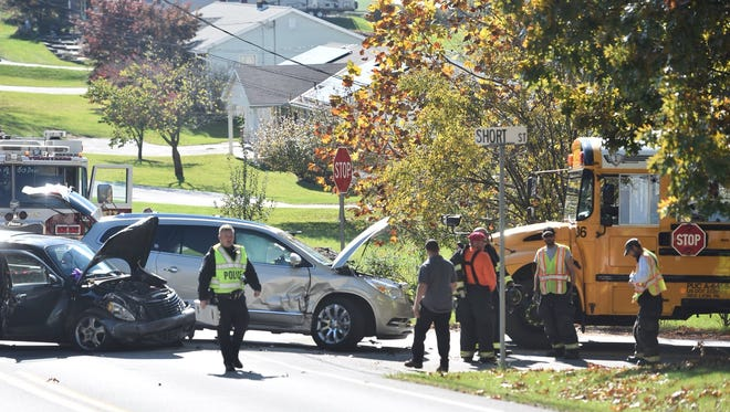 Police and fire officials were on scene of a Thursday afternoon crash in Windsor Township. York County 911 said the crash involved a school bus.