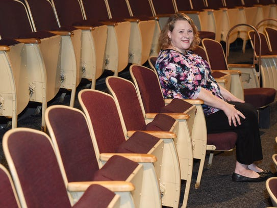 Emily DePew of Tivoli sits in the audience at the Center