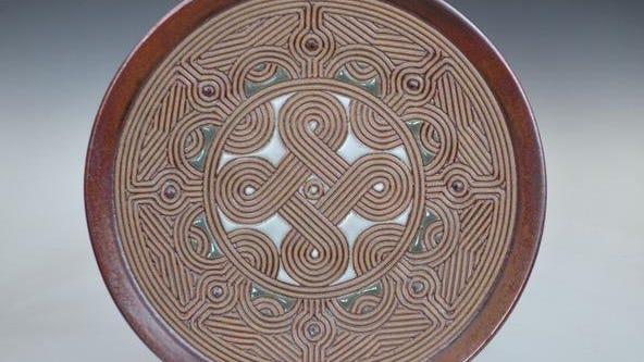 A stoneware plate by David MacDonald.