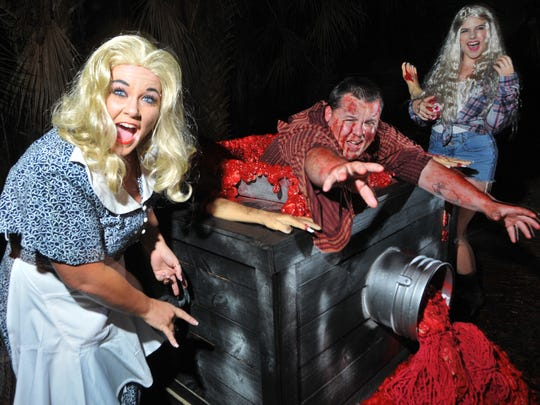 Trail of Terror, starring the Woods family, featured live actors, elaborate sets and terrifying special effects at the Brevard Zoo.