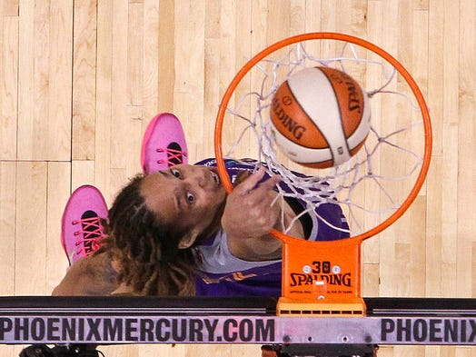 Brittney Griner dunks during the WNBA All-Star Game