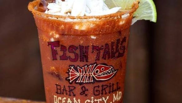 Fish Tales' famed Bloody Mary.