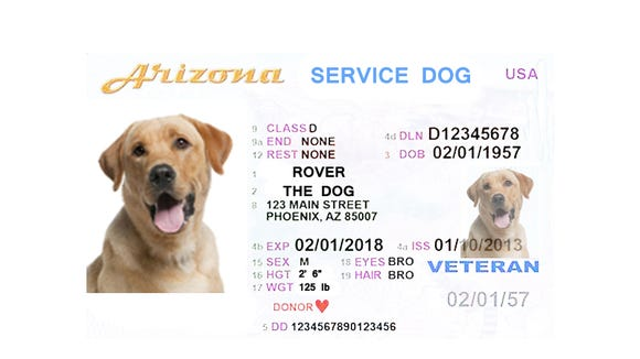 If service dogs must get an annual permit, maybe it should look something like this?