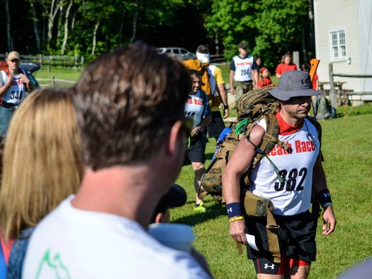 Tallahassee resident Patrick Slevin competes in the 2014 Death Race in Pittsfield, Vermont.