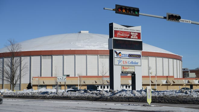 Rep. David Steffen's proposal would give 25 percent of the excess to Brown County for an arena project and the rest to the county's cities, villages and towns based on population.