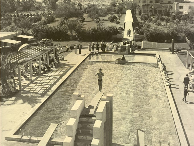 1930s - In the 1930's the first cabanas at the Arizona
