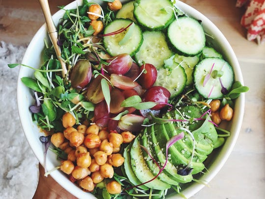 Micro Green Salad with Almond Butter Dressing from