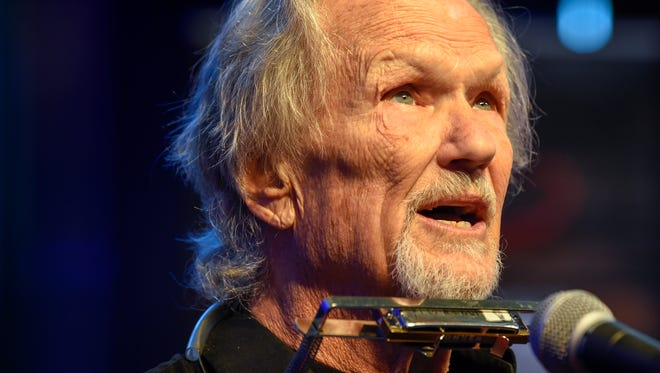 Kris Kristofferson sings at the press conference regarding the release of The Life and Songs of Kris Kristofferson Concert and Film in Nashville, Tenn., Thursday, Oct. 26, 2017.