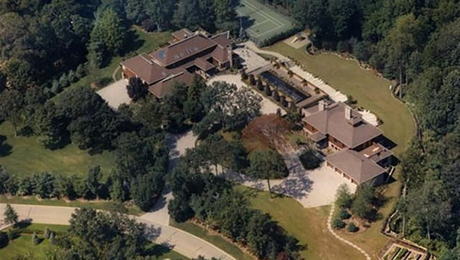 """This $7.9 million home in Alpine can be bought """"as-is."""" It stands on a 4-acre lot and is the second-largest property in Alpine now."""