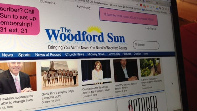The Woodford Sun is a newspaper in Versailles, Ky.