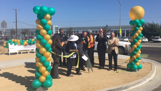 Aug. 28 ribbon cutting of Safe Routes to School project at Fremont Elementary School on East Market Street.