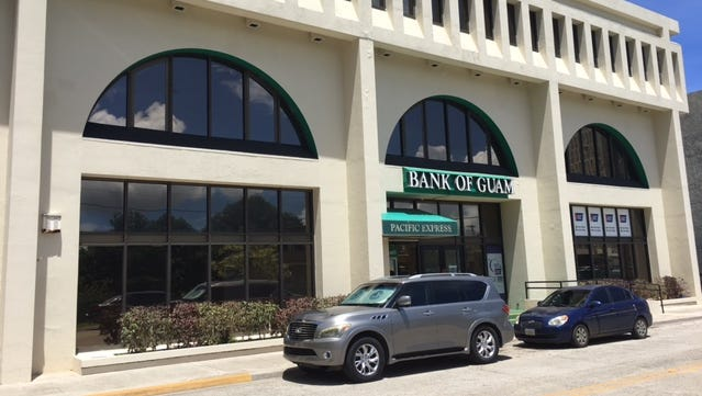 The Bank of Guam Santa Cruz branch, as photographed Sept. 14, 2017.
