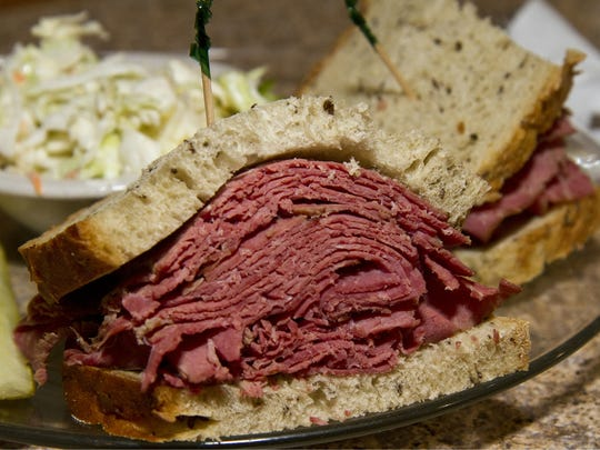 Corned Beef sandwich from New York Bagels 'N Bialys in Scottsdale.