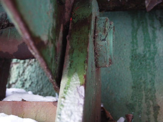 The condition of the 98-year-old Third Street Bridge in Waverly is a concern; inspectors found failed bearings and stringer corrosion.