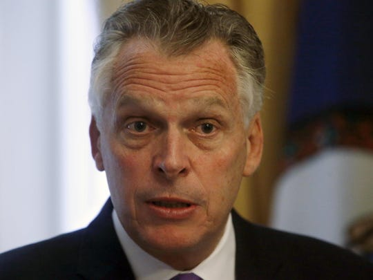 Gov. McAuliffe issued an executive order in April which restored voting and other civil rights to more than 200,000 convicted felons. Virginia Gov. Terry McAuliffe has issued more vetoes than any state leader since 1998.Virginia Gov. Terry McAuliffe proposes making significant changes to a bill that sought to allow the state to force condemned inmates to die in the electric chair when lethal injection drugs aren't available in Richmond, Va., Monday, April 11, 2016. The Democratic governor's amendment to the bill would give the state to power to compound lethal injection drugs needed for executions. (Bob Brown/Richmond Times-Dispatch via AP) MANDATORY CREDIT